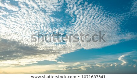 Meteorology Clouds Altocumulus Stock photo © sherjaca