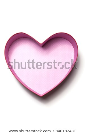 Red Heart-Shaped Box with Path stock photo © lisafx