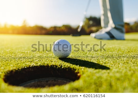jogador · de · golfe · golfball · sapatos · vertical · tiro - foto stock © rtimages