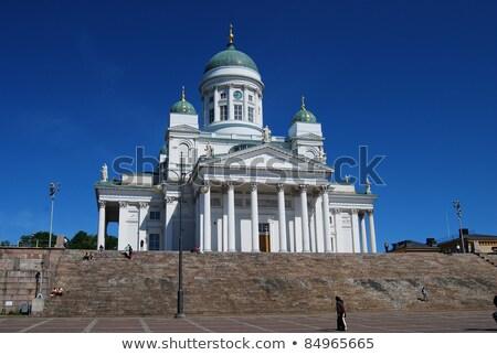 Helsinki Bina kar kilise mimari beyaz Stok fotoğraf © rey316