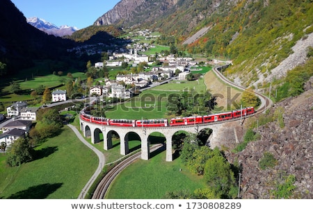 Demiryolu eski köprü taş endüstriyel mimari Stok fotoğraf © jakatics