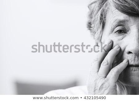 Woman's face saddened Stock photo © photography33