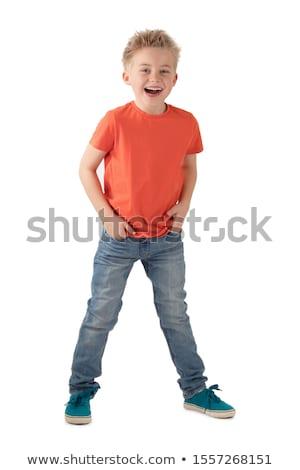 Wesoły mały chłopca portret szczęśliwy Zdjęcia stock © GekaSkr