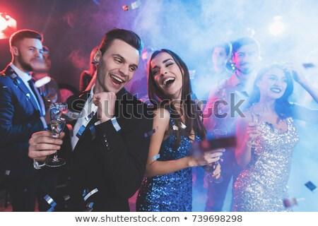 taniec · ślub · para · piękna · trawnik · moda - zdjęcia stock © photography33