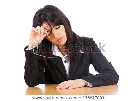 secretary taking off her glasses Stock photo © photography33