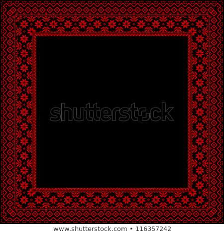 Square frame with Ukrainian ornament Stock photo © pzaxe
