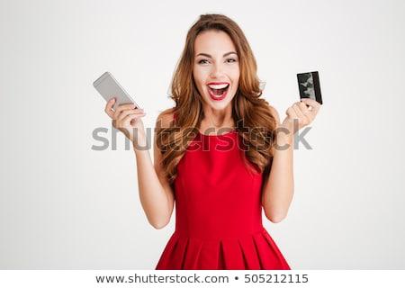 jóvenes · feliz · mujer · silencio · signo - foto stock © rosipro