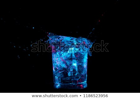 Frozen Ice Accents isolated on black background Stock photo © grasycho