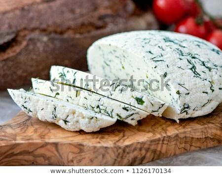 Frescos queso amarillo corte comestibles Foto stock © monticelllo