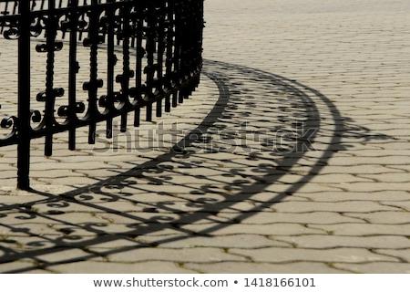 Kerítés árnyék tengerpart fa absztrakt homok Stock fotó © chrisbradshaw