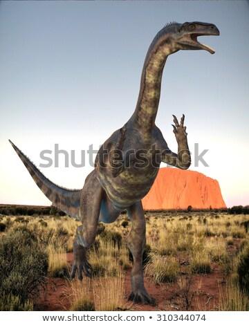 dinoszaurusz · kép · élet · égbolt · történelem · díszlet - stock fotó © aliencat