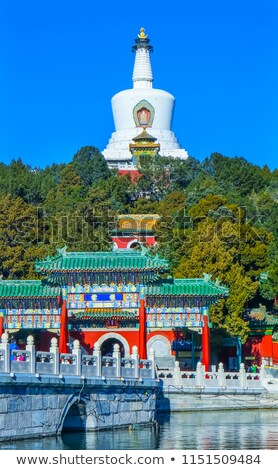 Ornate Gate, Beihai Park, Beijing, China Stock photo © billperry