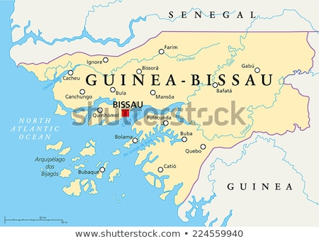 Africa map Guinea-Bissau Stock photo © Ustofre9