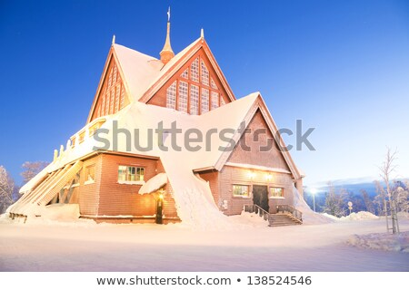 Kathedraal Zweden kerk architectuur schemering schemering Stockfoto © vichie81