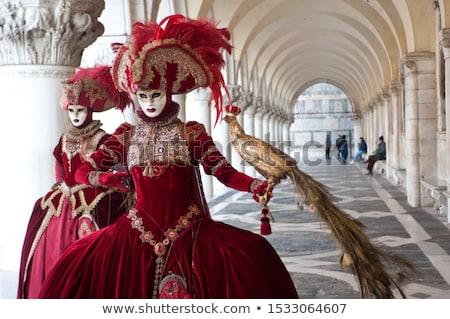 Maszk Velence Olaszország gyönyörű izolált fehér Stock fotó © Roka