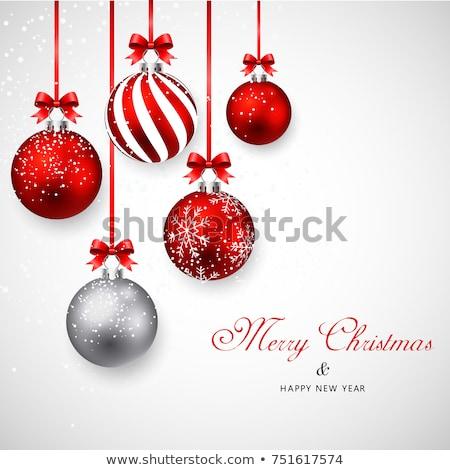 ストックフォト: グリッター · クリスマス · 装飾 · 銀 · 青