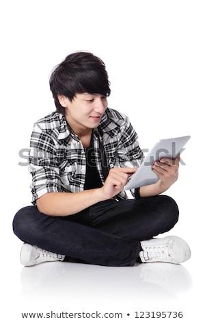 Technician working on the floor with tablet pc Stock photo © wavebreak_media