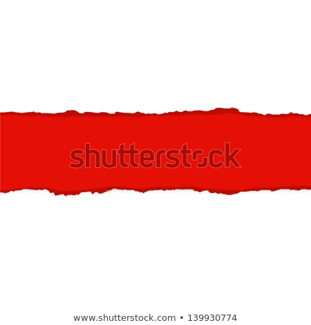 Red Fragmentary Paper Border Stock photo © barbaliss