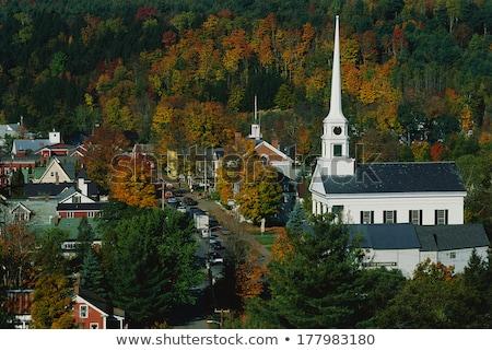 Stowe Community Church steeple Stock photo © DonLand