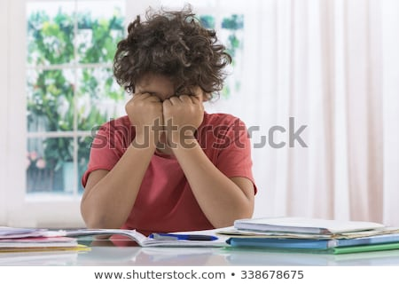 Boy exasperated with his homework Stock photo © photography33