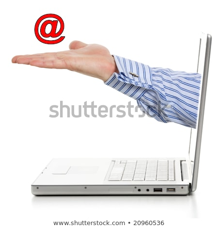 At Sign Shows Communication Through Internet Mailing Stock photo © stuartmiles