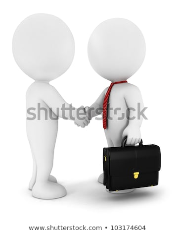3D blanco pequeño hombre cartera empresario Foto stock © karelin721