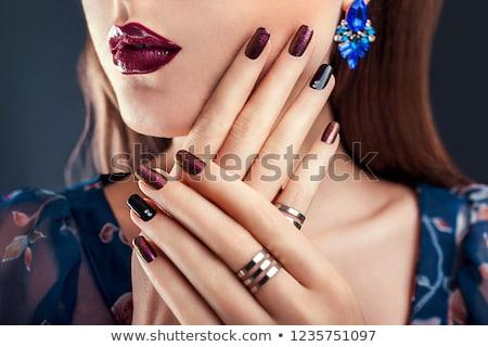 手 · カクテル · リング · ミラー · 宝石 · 高級 - ストックフォト © dolgachov