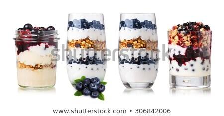 Yogurt muesli frutti di bosco set colazione cucchiaio Foto d'archivio © pxhidalgo