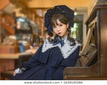 Cosplay menina posando mulher fundo Foto stock © pxhidalgo