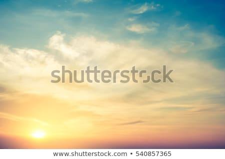 Retro kép felhős égbolt absztrakt kék Stock fotó © oly5
