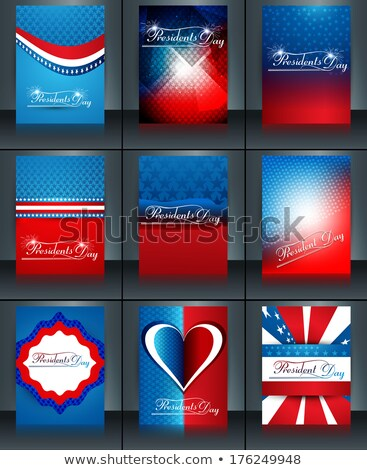 President Day in United States of America collection colorful ba Stock photo © bharat