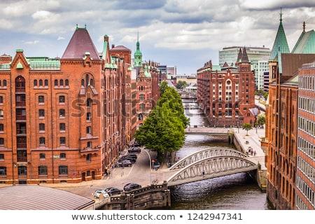 Гамбург известный старые построить красный кирпича Сток-фото © meinzahn