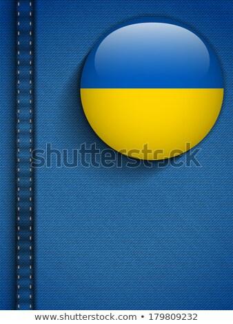 Ucrânia bandeira botão jeans bolso vetor Foto stock © gubh83