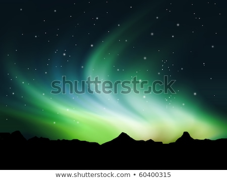 Background Showing Northern Lights In The Sky Stockfoto © Kjpargeter
