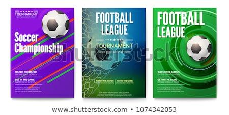 サッカー チラシ デザイン サッカー スポーツ ボール ストックフォト © rioillustrator