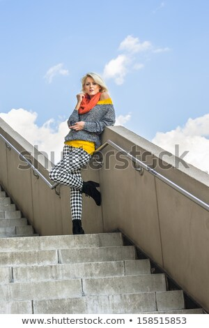 charming blonde in underclothes Stock photo © 26kot
