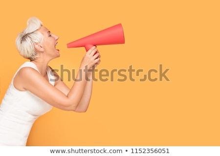 mature woman shouting stock photo © bmonteny