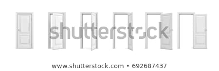 blanco · puerta · abierta · 3D · imagen · casa · interior - foto stock © ISerg