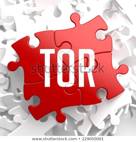 TOR on Red Puzzle. Stock photo © tashatuvango