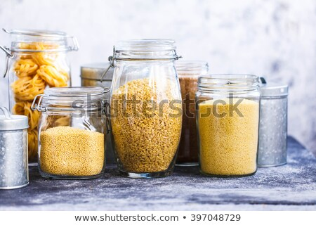 Pasta shells in a glass jar Stock photo © raphotos