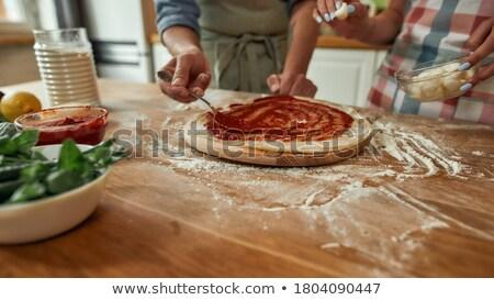 свежие · спагетти · томатном · соусе · пармезан · изолированный · белый - Сток-фото © m-studio