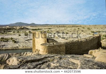ruins of old historic dam in marib, Yemen Stock photo © meinzahn
