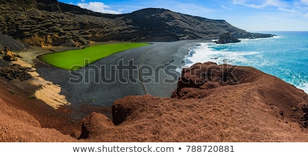 Yeşil göl su doğa dağ kaya Stok fotoğraf © eleaner