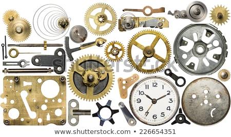 часы синий макроса механизм стороны Сток-фото © nelsonart