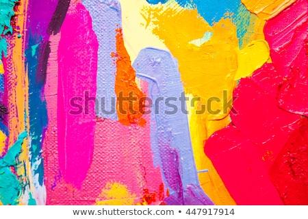 çanaklar · ahşap · paletine · boya - stok fotoğraf © tycoon