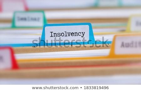 Palavra dobrador cartão foco dinheiro dados Foto stock © tashatuvango
