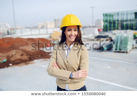 construction manager with arms folded stock photo © stockyimages