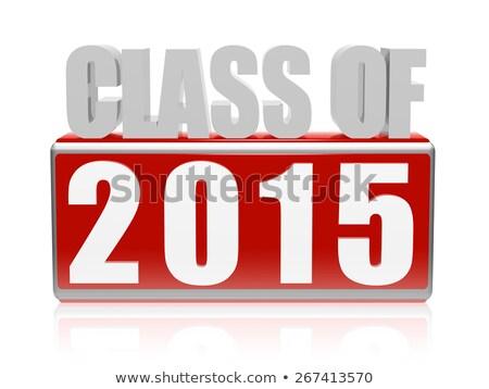 Classe 2015 3D cartas texto vermelho Foto stock © marinini