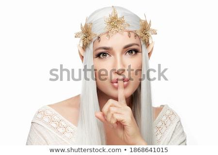 bella · donna · camomilla · ghirlanda · ritratto · donna - foto d'archivio © deandrobot