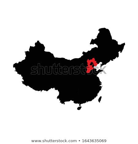 Map of People's Republic of China - Hebei province Stock photo © Istanbul2009